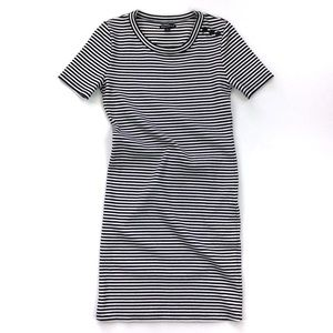 J. Crew Black White T-Shirt Dress Size S